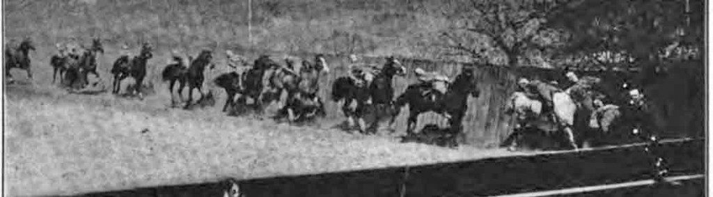 suppling at the gallop, lying back with no reins and no stirrup class of 1912